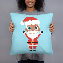 Load image into Gallery viewer, Kritter Christmas Santa Reversible Throw Pillow - Kritter Haus