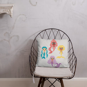 Kritter Mermaid Squad Throw Pillow - Kritter Haus