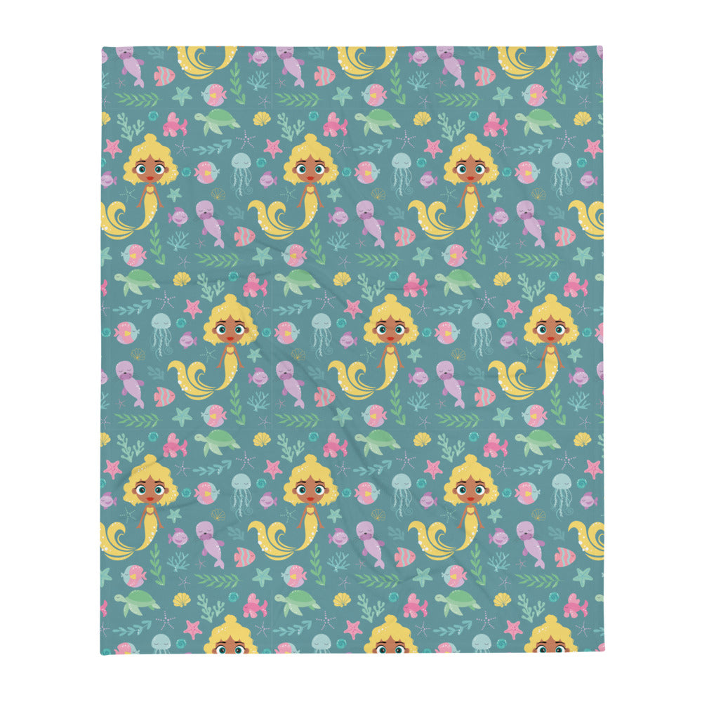Kritter Mermaid Sea Throw Blanket - Kritter Haus