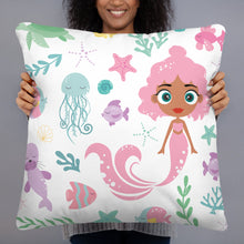 Load image into Gallery viewer, Kritter Mermaid Sea Throw Pillow - Kritter Haus