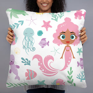 Kritter Mermaid Sea Throw Pillow - Kritter Haus