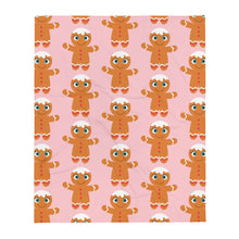 Load image into Gallery viewer, Kritter Christmas Pink Gingerbread Throw Blanket - Kritter Haus