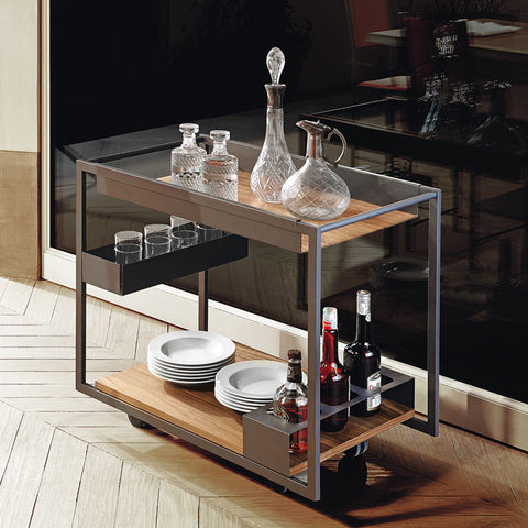 MOJITO WOOD BAR CART COMPLEMENT - Divine Design Center
