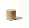 NATURAL WOOD CYLINDER COFFEE TABLE - Divine Design Center
