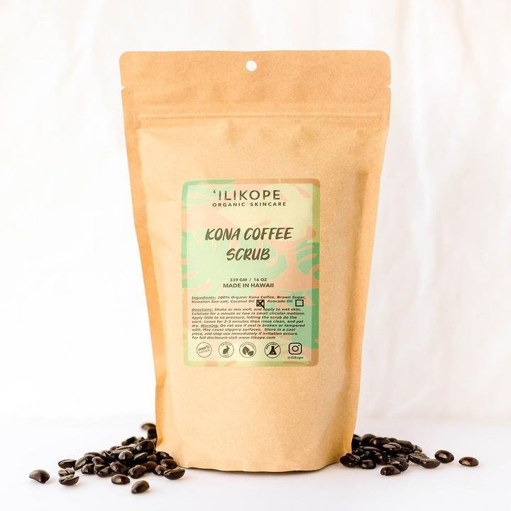 ILIKOPE 1oz KONA COFFEE SCRUB - Kona Mountain Coffee