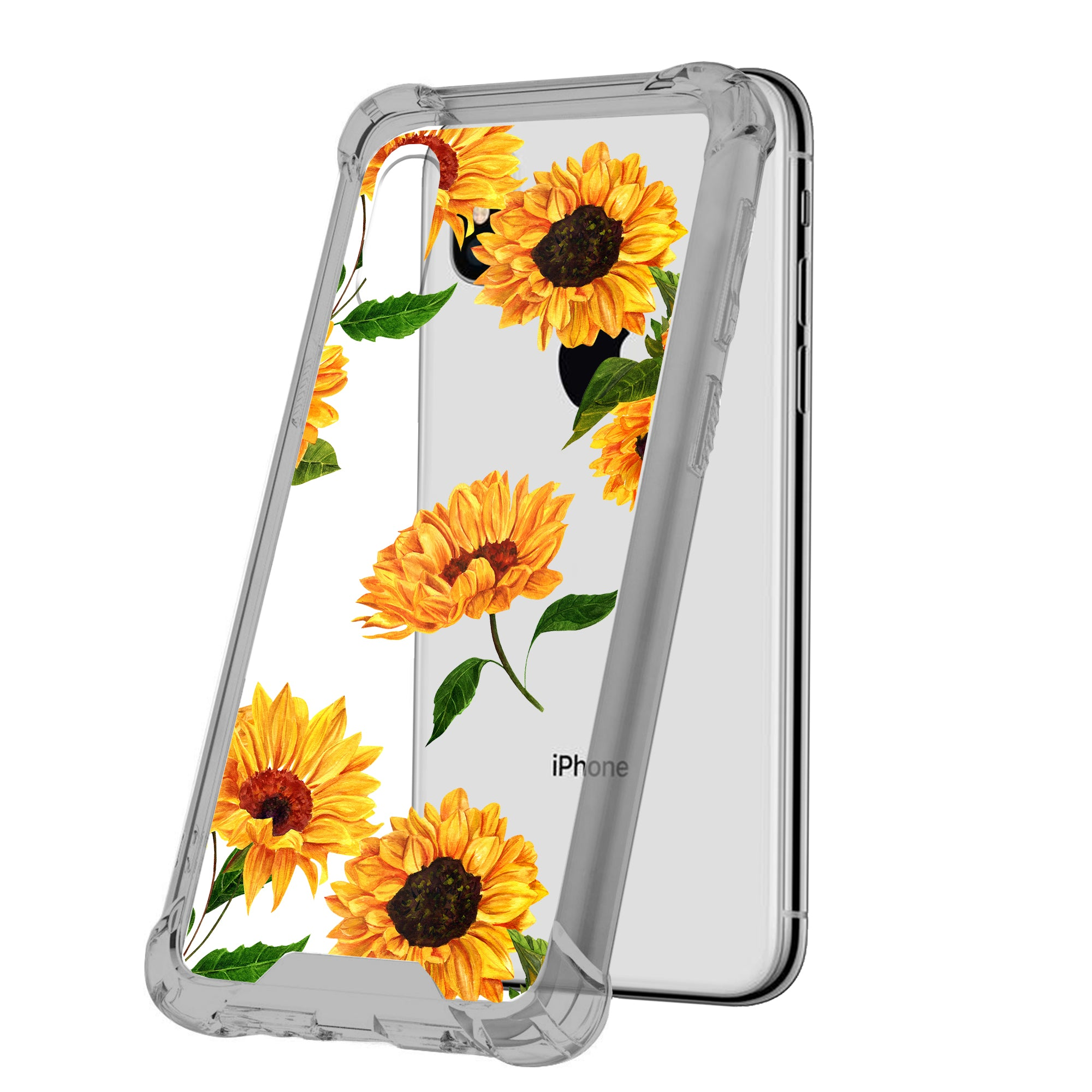 For-Apple-iPhone-Xs-Max-iPhone-Xs-Max-Black-TPU-Bumper-Case-Floral-Designs thumbnail 7