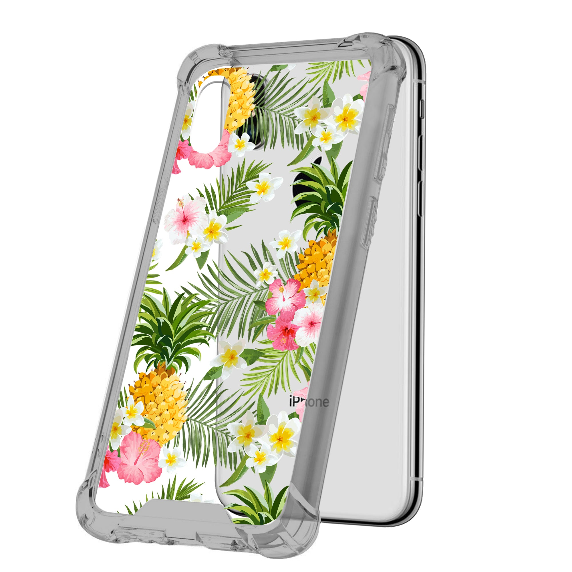 For-Apple-iPhone-Xs-Max-iPhone-Xs-Max-Black-TPU-Bumper-Case-Floral-Designs thumbnail 9