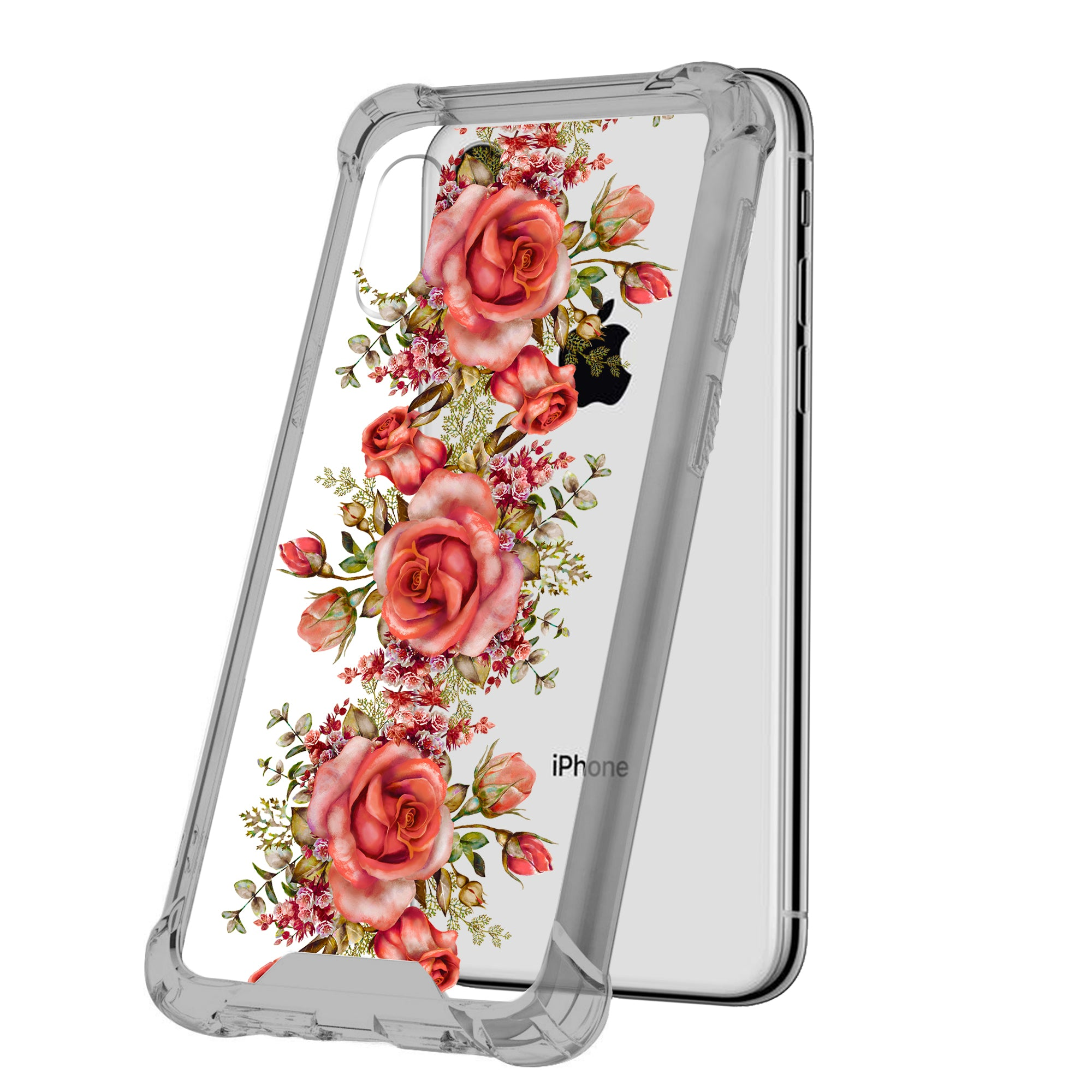For-Apple-iPhone-Xs-Max-iPhone-Xs-Max-Black-TPU-Bumper-Case-Floral-Designs thumbnail 13