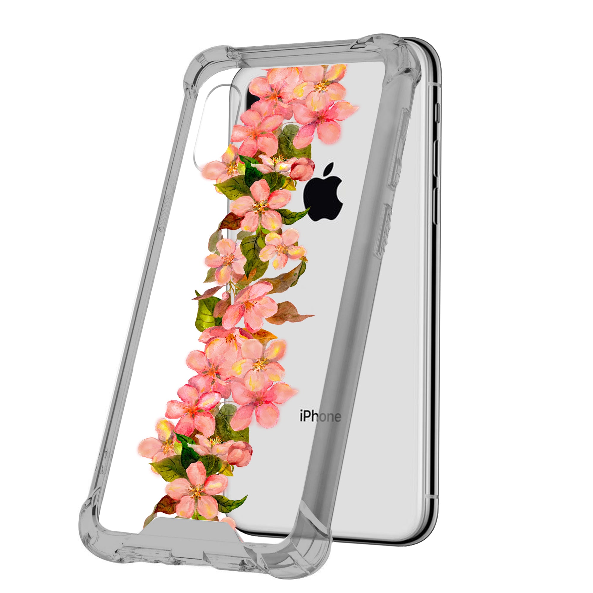 For-Apple-iPhone-Xs-Max-iPhone-Xs-Max-Black-TPU-Bumper-Case-Floral-Designs thumbnail 19