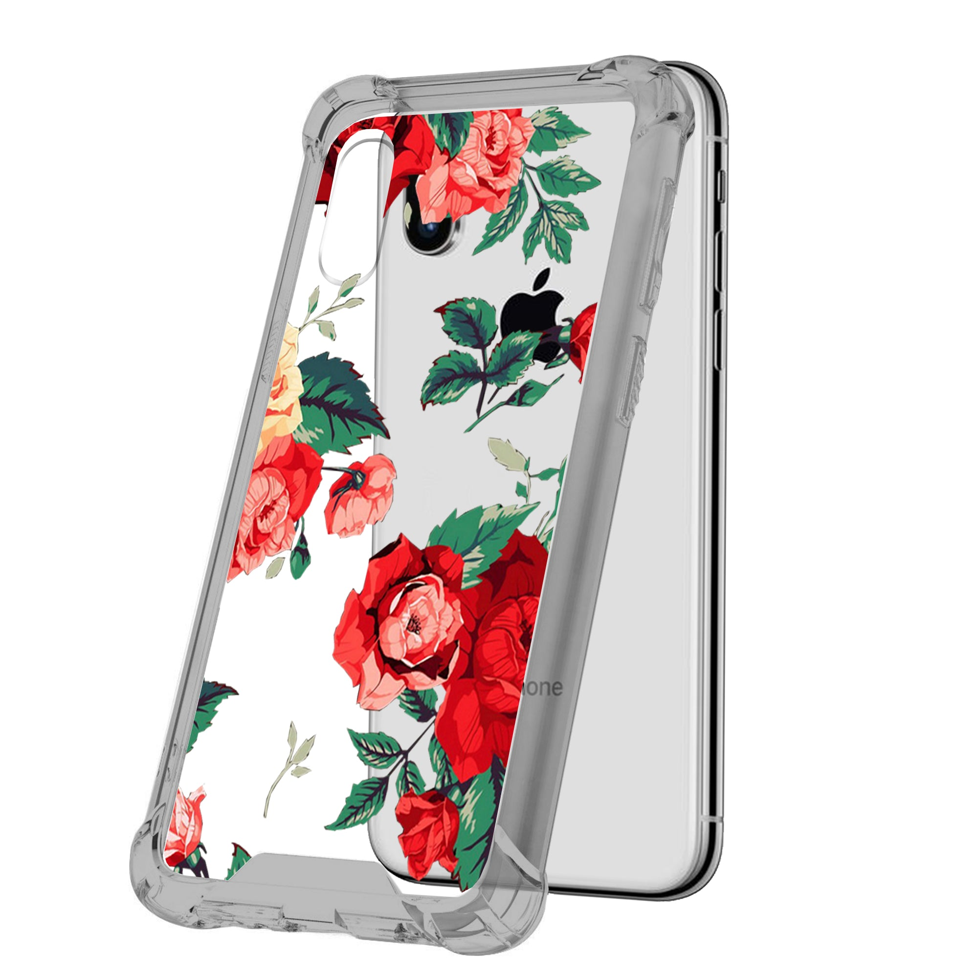For-Apple-iPhone-Xs-Max-iPhone-Xs-Max-Black-TPU-Bumper-Case-Floral-Designs thumbnail 21