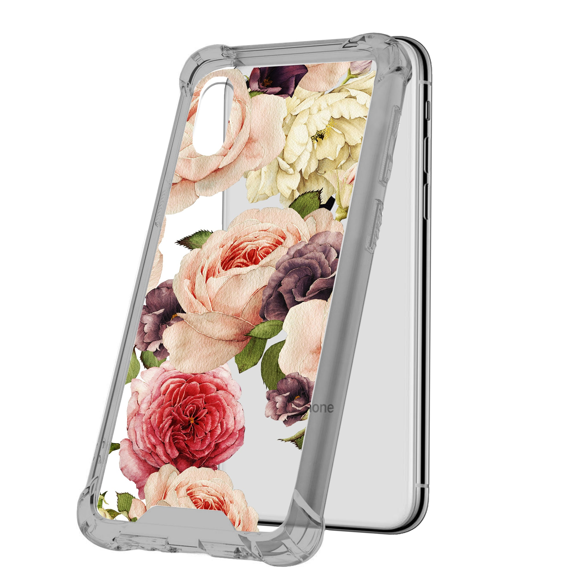 For-Apple-iPhone-Xs-Max-iPhone-Xs-Max-Black-TPU-Bumper-Case-Floral-Designs thumbnail 23