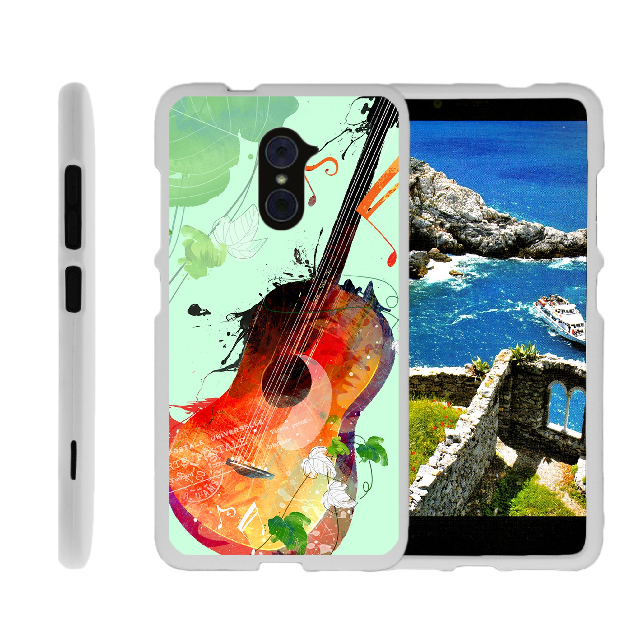 For-ZTE-Imperial-Max-Max-Duo-LTE-Grand-X-Max-2-Hard-Snap-On-Slim-Case-Flower