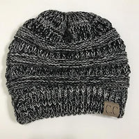 Atas Lifestyle beauty Black / One Size Ponytail Soft Knit Beanie