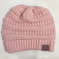 Atas Lifestyle beauty Pink / One Size Ponytail Soft Knit Beanie