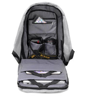 Atas Lifestyle Black Anti Theft USB Charging Backpack