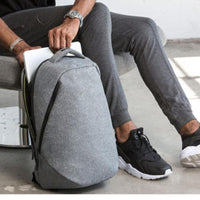 Atas Lifestyle Black grey 14 inch Urban Anti Theft Backpack With Laptop Compartment