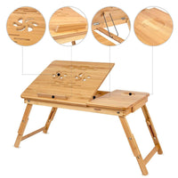 Atas Lifestyle Foldable Bamboo Laptop Desk