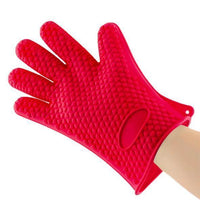 Atas Lifestyle Home Red Silicone Heat Resistant Gloves