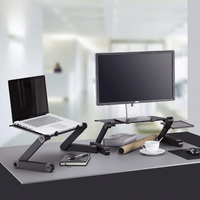 Adjustable Ergonomic Laptop Desk (Mouse Pad Included)