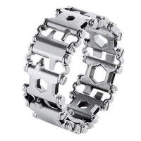 Going Sporting Store Outdoor Tools Stainless Steel 25 in 1 Multi-Tool Bracelet