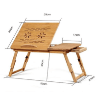 PHYVAL Official Store Laptop Desks Foldable Bamboo Laptop Table