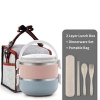 WORTHBUY Official Store Lunch Boxes 2 Layer Set / Yes Thermal Pro Japanese Layered Lunch Box