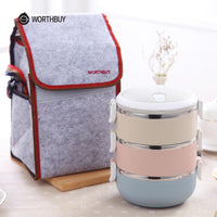 WORTHBUY Official Store Lunch Boxes Thermal Pro Japanese Layered Lunch Box