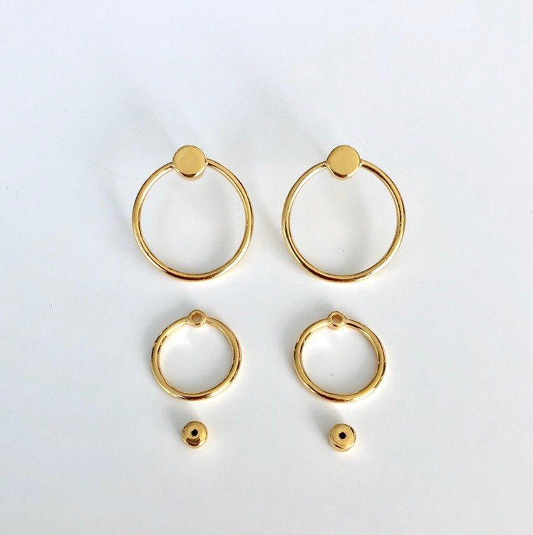 TWIN EARRING GOLD PLATED - MARCEL BEDRO jewelry