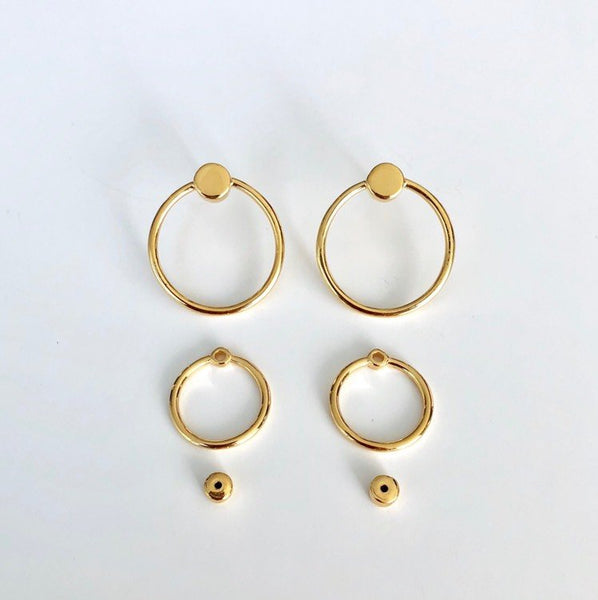 TWIN EARRING GOLD PLATED