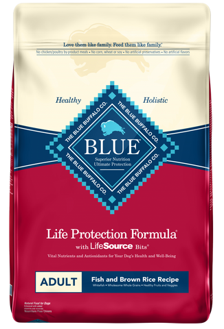 product zoomed image Blue Buffalo Life Protection Natural Fish & Brown Rice Recipe Adult Dry Dog Food