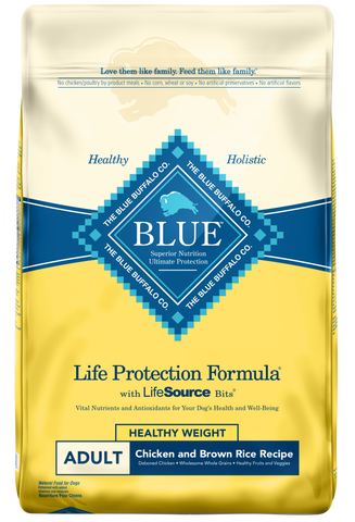 product zoomed image Blue Buffalo Life Protection Healthy Weight Natural Chicken & Brown Rice Recipe Adult Dry Dog Food
