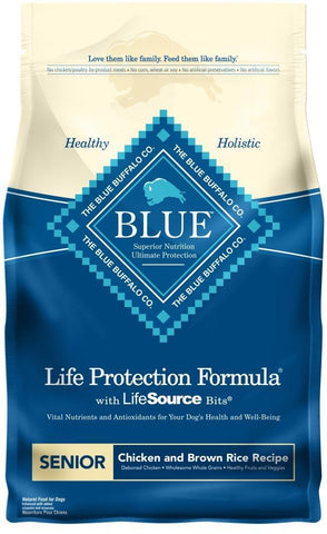 product zoomed image Blue Buffalo Life Protection Natural Chicken & Brown Rice Recipe Senior Dry Dog Food