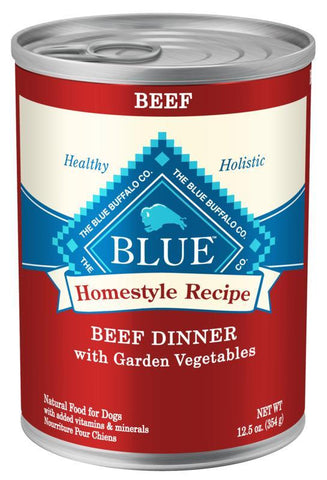 product zoomed image Blue Buffalo Homestyle Beef Dinner with Garden Vegetables & Sweet Potatoes Canned Dog Food