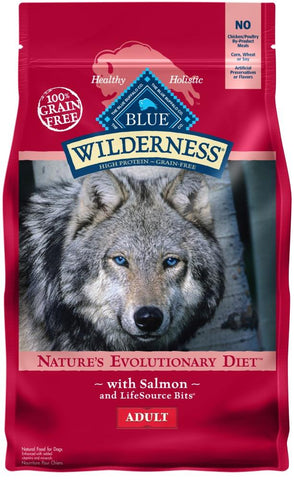 product zoomed image Blue Buffalo Wilderness Grain Free Natural Salmon Recipe Adult Dry Dog Food
