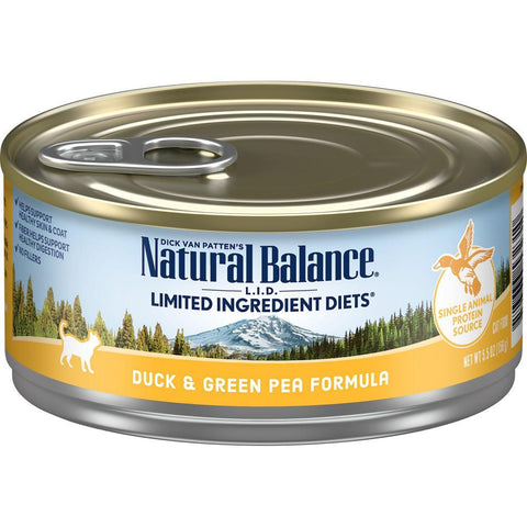 product zoomed image Natural Balance L.I.D. Limited Ingredient Diets Duck & Green Pea Formula Canned Cat Food