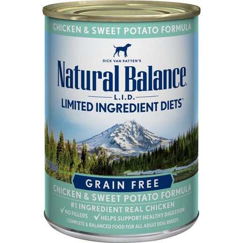 product zoomed image Natural Balance L.I.D. Limited Ingredient Diets Chicken and Sweet Potato Formula Canned Dog Food