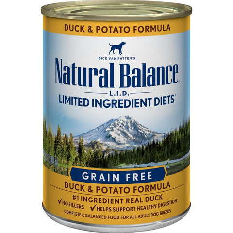product zoomed image Natural Balance L.I.D. Limited Ingredient Diets Duck and Potato Canned Dog Food