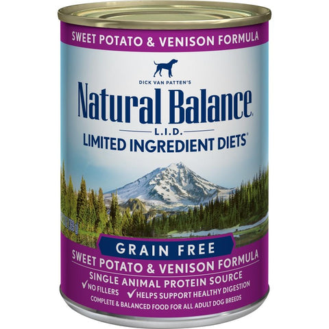 product zoomed image Natural Balance L.I.D. Limited Ingredient Diets Sweet Potato and Venison Canned Dog Food