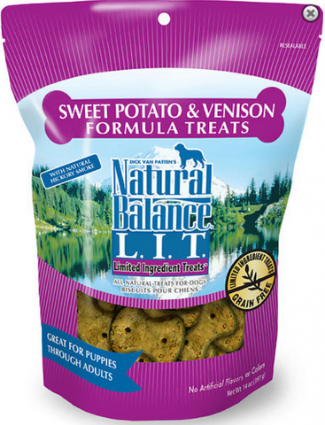 product zoomed image Natural Balance L.I.T. Limited Ingredient Treats Venison and Sweet Potato Dog Treats