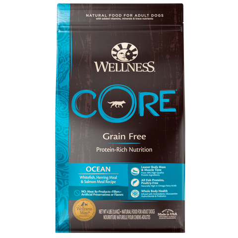 product zoomed image Wellness CORE Natural Grain Free Ocean Whitefish, Herring & Salmon Recipe Dry Dog Food