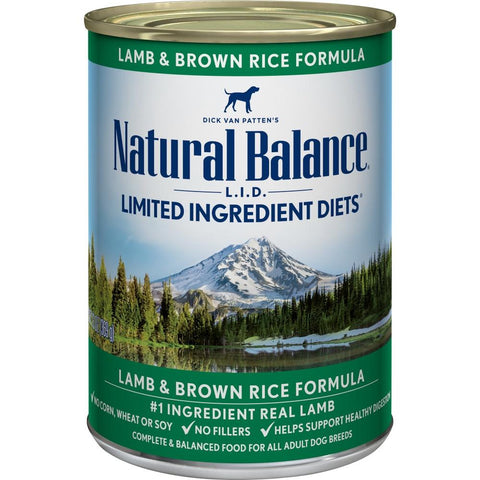 product zoomed image Natural Balance L.I.D. Limited Ingredient Diets Lamb and Brown Rice Formula Canned Dog Food