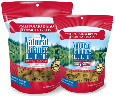 product zoomed image Natural Balance L.I.T. Limited Ingredient Treats Sweet Potato and Bison Formula Dog Treats