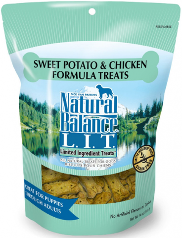 product zoomed image Natural Balance L.I.T. Limited Ingredient Treats Sweet Potato and Chicken Formula Dog Treats