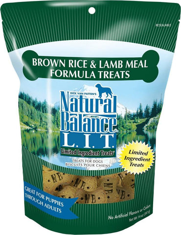 product zoomed image Natural Balance L.I.T. Limited Ingredient Treats Brown Rice and Lamb Meal Formula Dog Treats