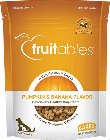 product zoomed image Fruitables Crunchy Pumpkin & Banana Dog Treats