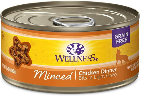 product zoomed image Wellness Grain Free Natural Minced Chicken Dinner Wet Canned Cat Food