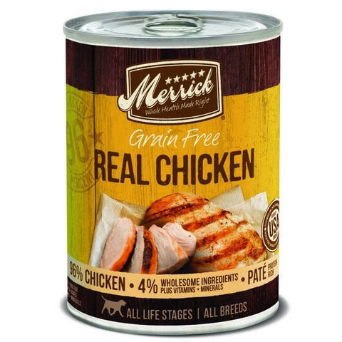 product zoomed image Merrick Grain Free 96% Real Chicken Canned Dog Food