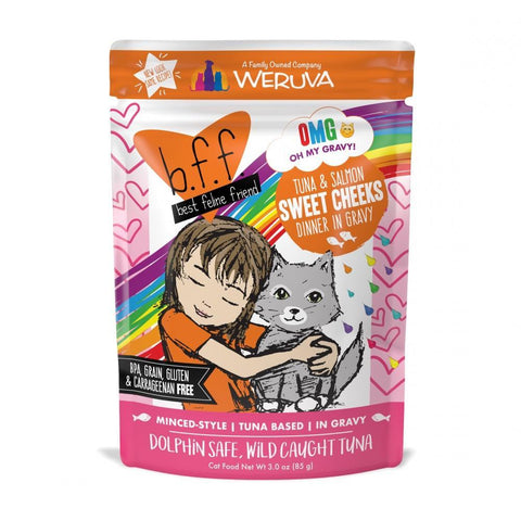 product zoomed image Weruva BFF Tuna & Salmon Sweet Cheeks Recipe Pouches Wet Cat Food