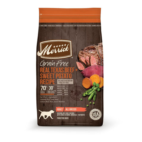 product zoomed image Merrick Grain Free Real Texas Beef and Sweet Potato Dry Dog Food