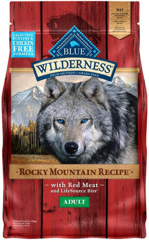 product zoomed image Blue Buffalo Wilderness Rocky Mountain Grain Free Red Meat High Protein Recipe Adult Dry Dog Food
